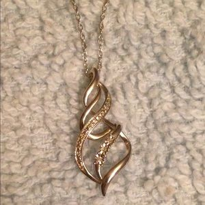 Kay Jeweler Diamond Swirl Necklace Sterling